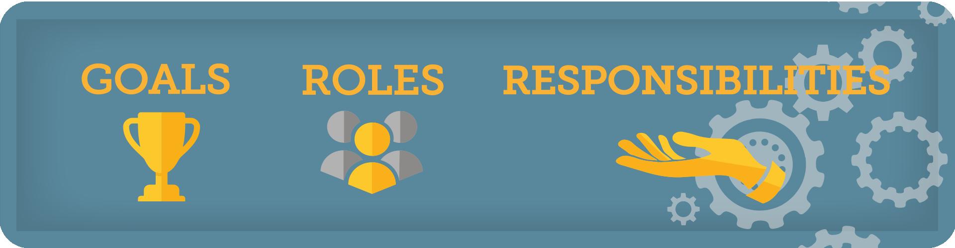 goals roles and responsibilities banner