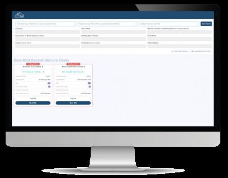 service user screenshot