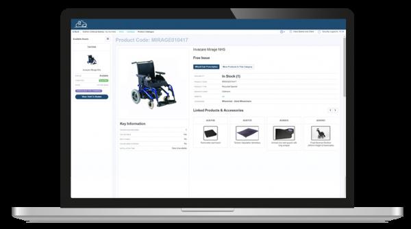 wheelchair catalogue screenshot